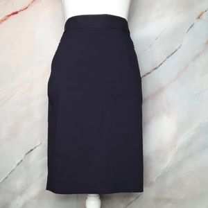 THE LIMITED Navy Exact Stretch Pencil Skirt Size 8